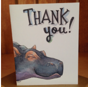 Hippo Thanks Card