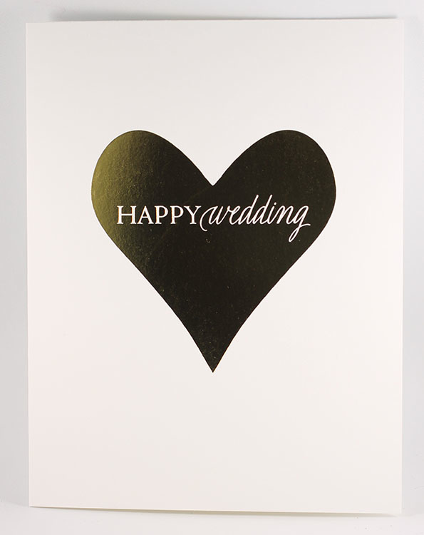 Happy Wedding Heart Card