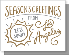 Seasons Greetings - LA Box of 6 Cards