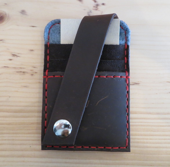 Men's or Unisex Handmade Leather Card Wallet