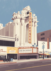 Print of the historic Los Angeles Theater