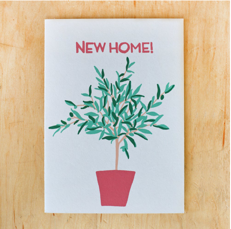 New Home Olive Tree Card