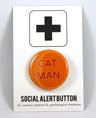 Cat Man Button