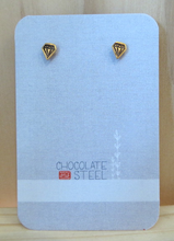 Load image into Gallery viewer, Faux Diamond Gold Vermeil Earrings