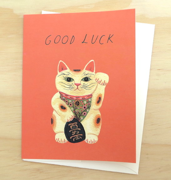 Red Cap Cards Good Luck Kitty