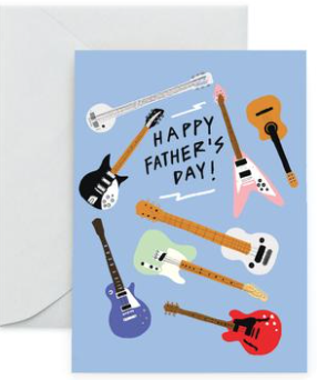 Guitars Axes Father's Day Card