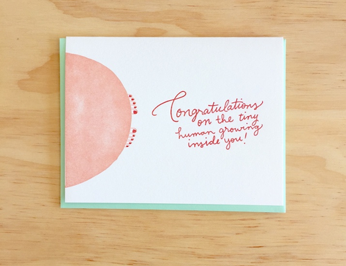 Congratulations on the baby growing inside you! Card