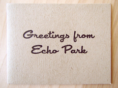 Ink and Smog Greetings from Echo Park Card Set of 4