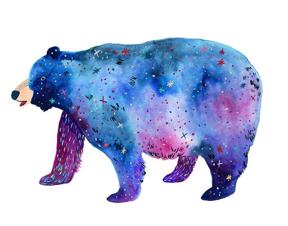 This cosmic bear shines as a Space Bear!