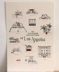 Vernacular Architecture of Los Angeles Print