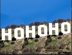 HO HO HO Hollywood Sign Holiday Card