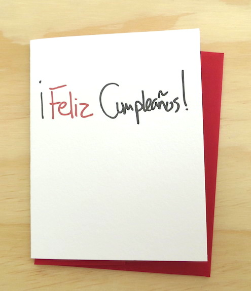Life is Funny Press Feliz Cupleanos Bithday Card