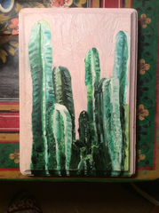 Altacama, oil on wood, 5x7""
