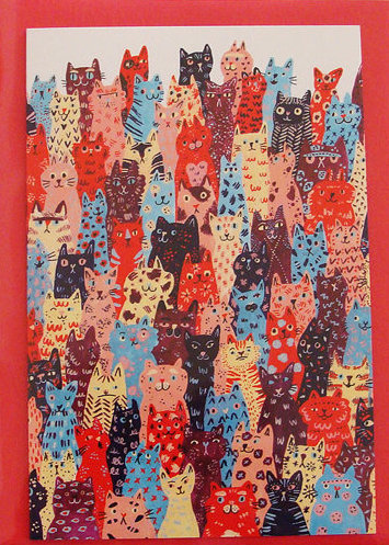 Many Many Cats Card