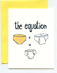 The Equation Baby Card