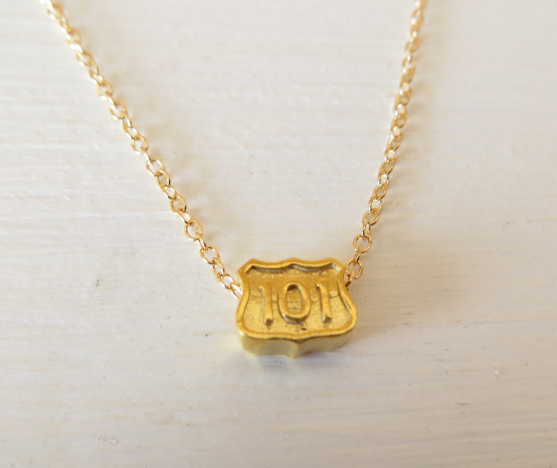 Gold Highway 101 Gold Necklace by L. Makai