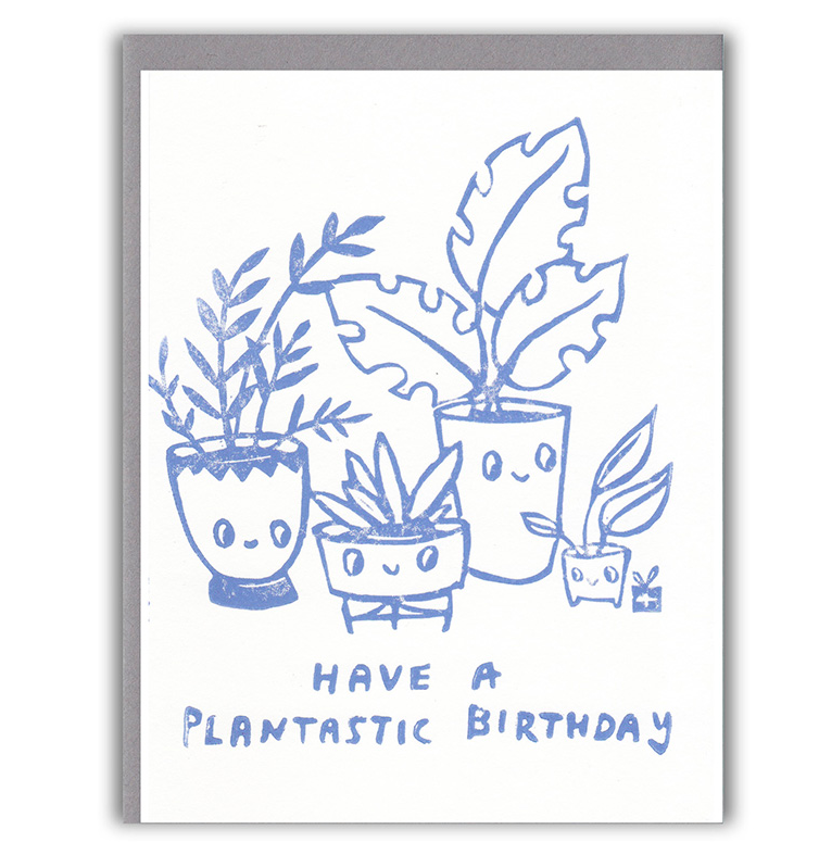 PLANTASTIC Birthday Card