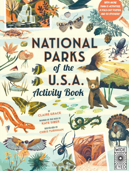 National Parks of the USA: Activity Book: With More Than 15 Activities, A Fold-out Poster and 50 Stickers!