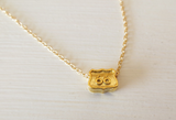 L Makai Route 66 Gold Vermeil Necklace