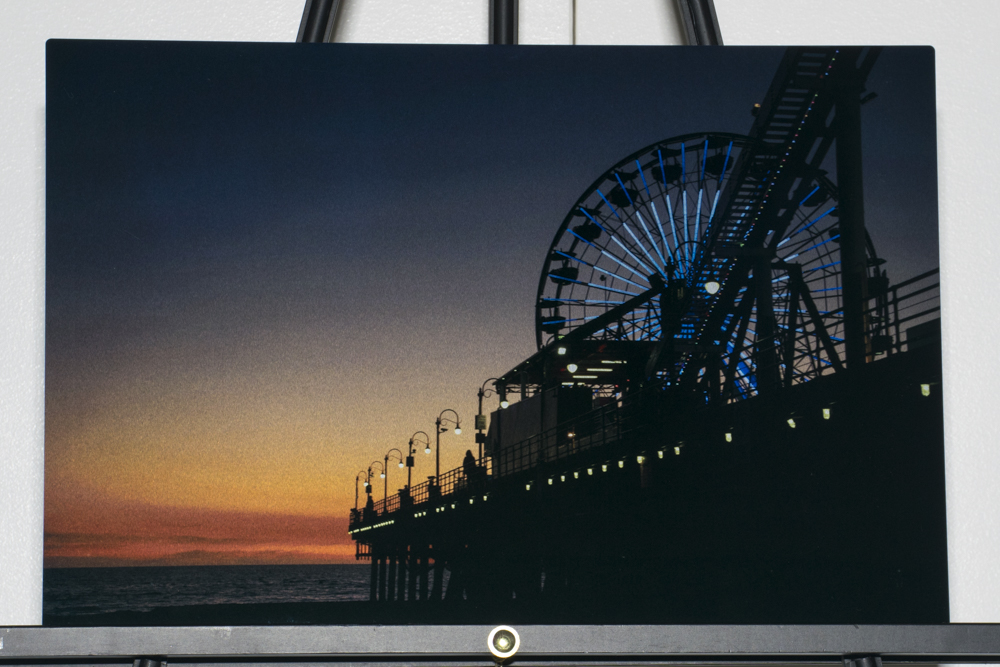 Santa Monica Beach Sunset Walk 12x18 metal photo