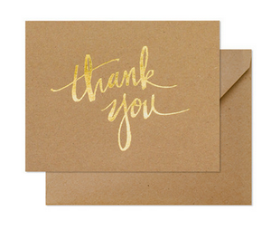 Kraft Thank You Card