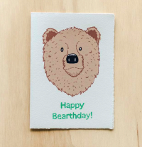 Happy Bearthday Birthday Card