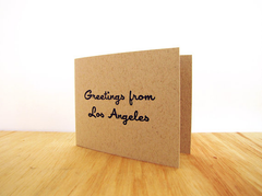 Greetings from LA Card Set of 4