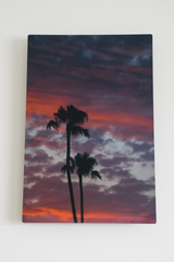 July Sunset 8X12 metal photo