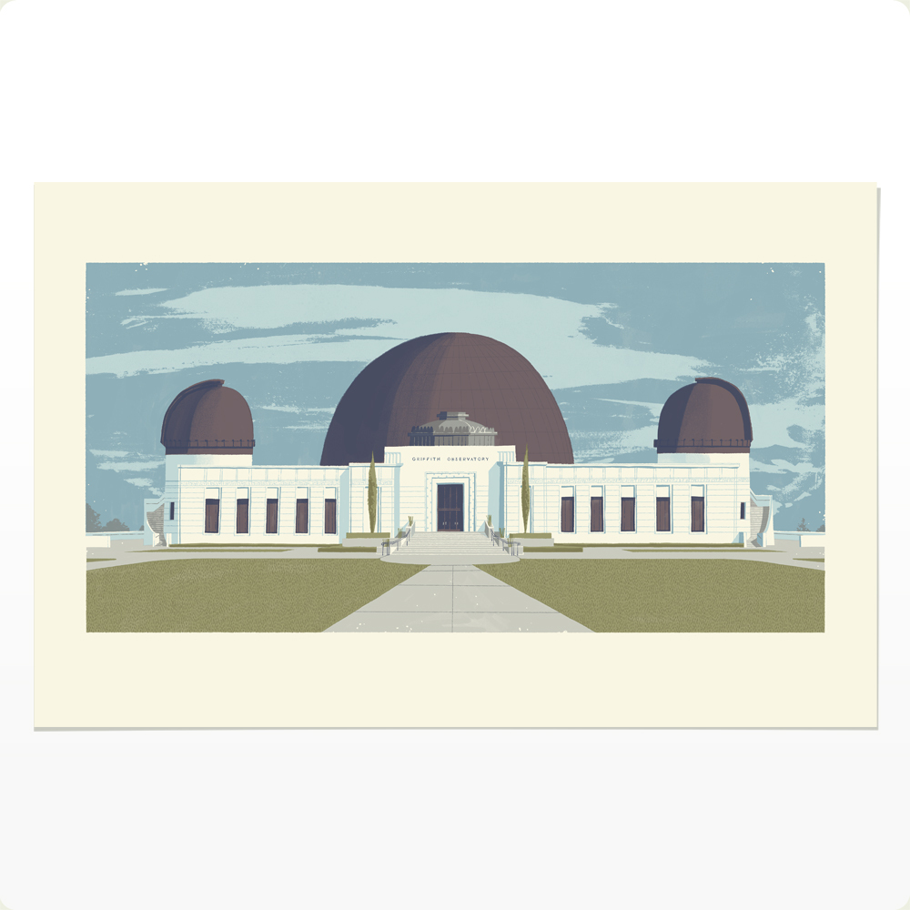 Griffith Observatory Print by Chris Turnham