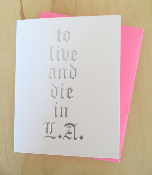 To Live and Die in LA Card