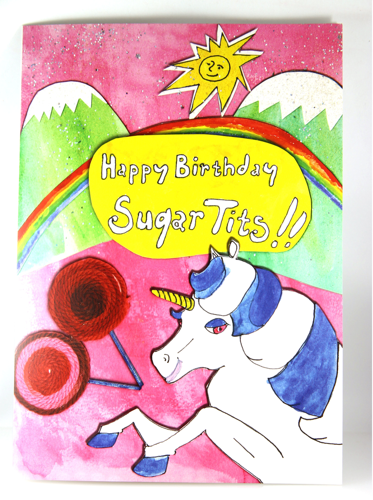 Happy Birthday Sugar Tits Card