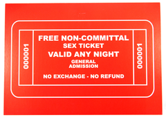 Free Non-Committal Sex Ticket Card