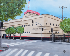 """Coca Cola Bottling Plant"" acrylic on canvas panel"