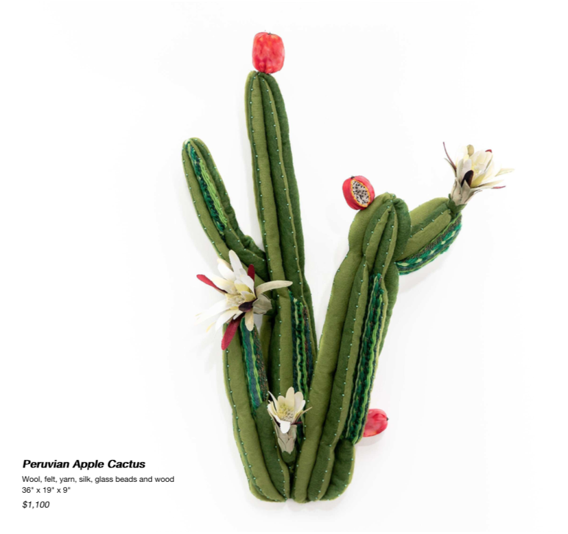 Peruvian Apple Cactus Sculpture