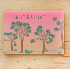 Joshua Tree Birthday Card