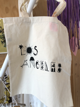 Load image into Gallery viewer, LA Screen Printed Tote Bag