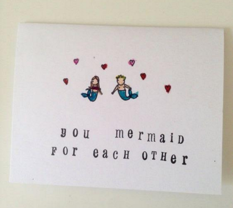 Mermaid for Each Other Card