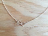 Double Heart in Sterling Silver