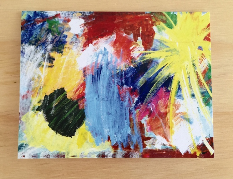 Bright Abstract Splash Painted Card
