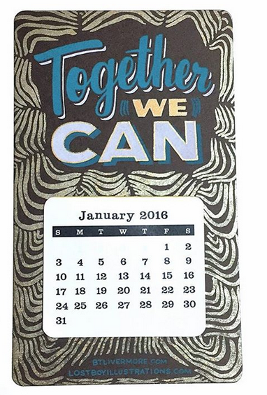 Together We Can 2016 Calendar