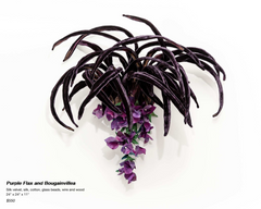 Purple Flax and Bougainvillea Sculpture