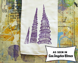 Watts Tower LA Souvenir Tea Towel