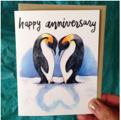 Anniversary Penguins Card