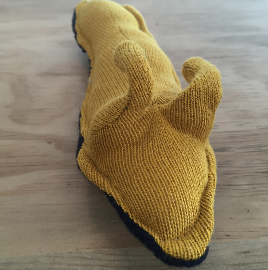 Recycled Sweater Banana Slug