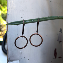 Load image into Gallery viewer, Copper Circle Earrings