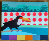 Tropical Resort Acrylic Painting