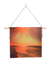 Load image into Gallery viewer, 'California Sunrise' Canvas Wall Hanging 18x18""