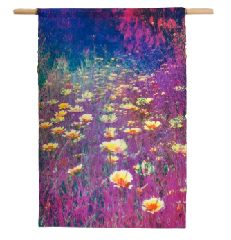 'Floral Haze' Canvas Wall Hanging