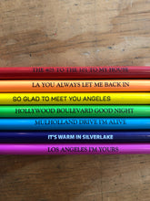 Load image into Gallery viewer, Los Angeles Song Lyric Pencil Set of 7