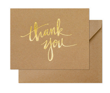 Load image into Gallery viewer, Kraft Thank You Card